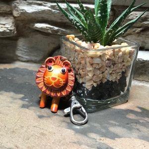 Leather lion 🦁 key chain